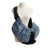 Baby Sling Carry Pouch - Blue Tartan
